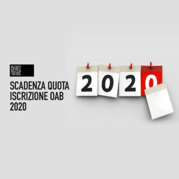 QUOTA ISCRIZIONE OAB 2020