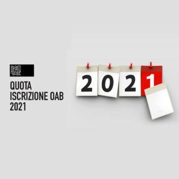 QUOTA ISCRIZIONE OAB 2021